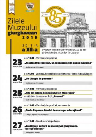 Afis zilele muzeului 2019